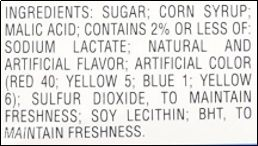 Jolly Rancher Lollipops Ingredients