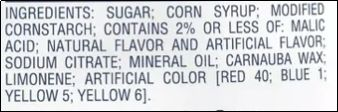 Rancher Lollipops Ingredients