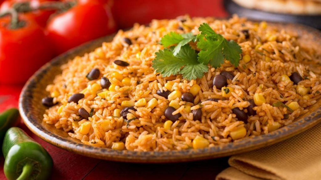 Chili's Mexican rice and beans