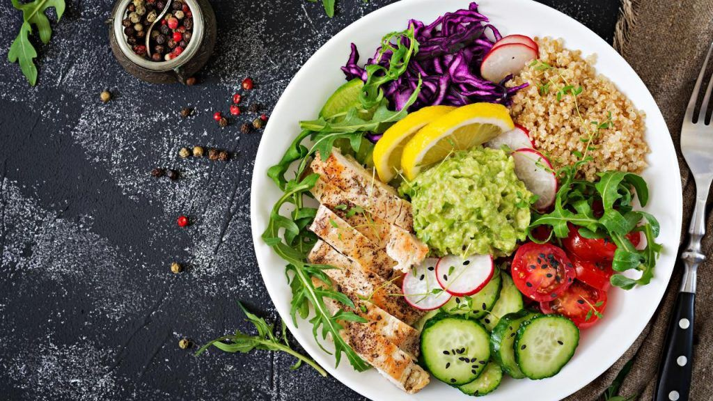 Healthy nutrient breakdown