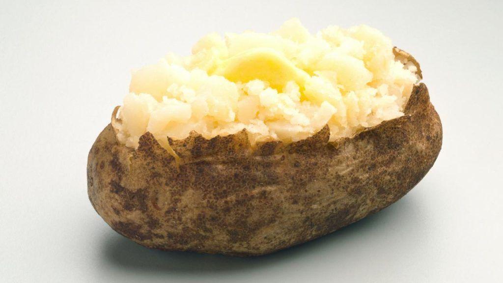 Vegan baked potato at Wendy's