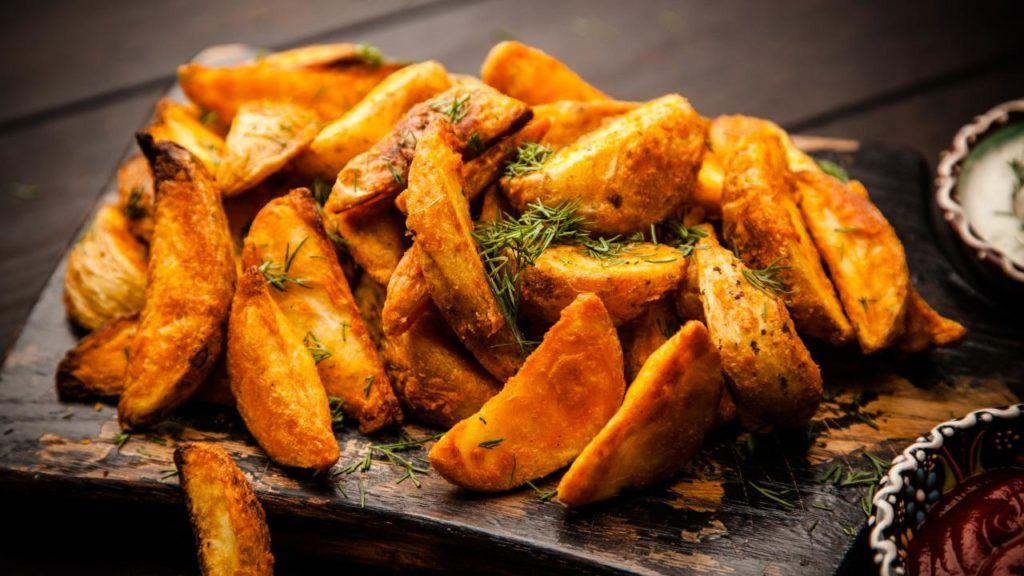Vegan potato wedges at Wendy's