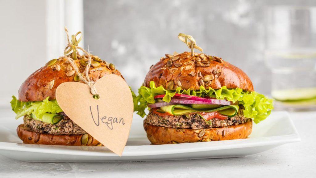 vegan burger at Carl's J