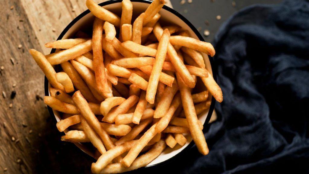 vegan fries at Carl's Jr
