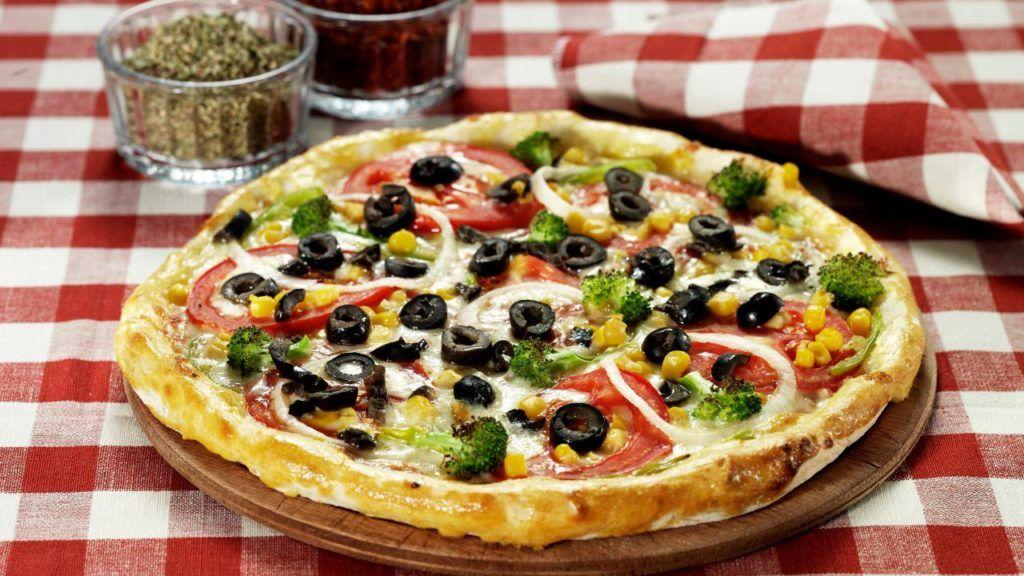 Papa John's vegan pizza