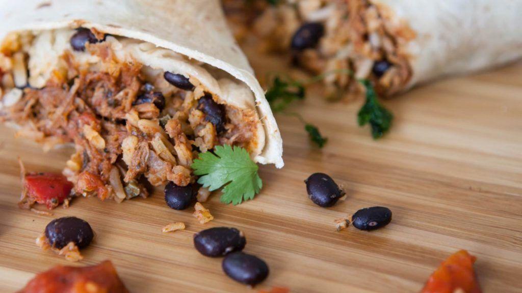 Taco Bell vegan bean and rice burrito