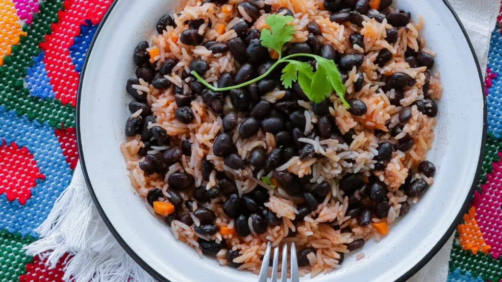 Taco Bell vegan beans and rice