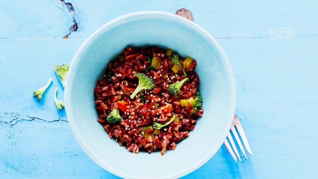 Vegan rice bowl at Panera