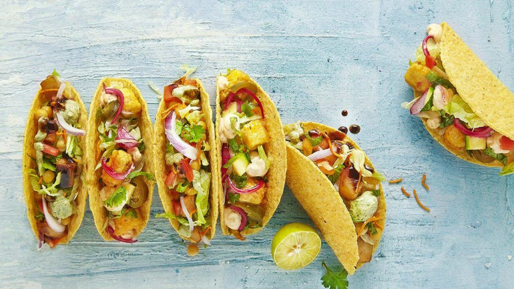 Vegan tacos at Taco Bell